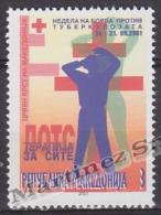 Macedonia 2001 Beneficience Yvert 88, Fight Against Tuberculosis  - MNH - Macedonia