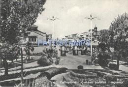 32350 ITALY CALTAGIRONE CATANIA GARDEN PUBLIC ENTRANCE POSTAL POSTCARD - Non Classificati
