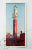 1950's Italy , Tuscany Tourism Brochure  - Edited By The Italian National Tourism Board - English Edition - Folletos Turísticos