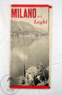 1952 Italy Milano Ei Laghi Tourism Brochure  And Map - Folletos Turísticos