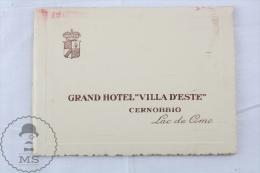 1930's Grand Hotel Villa D'Este & Reine D'Angleterre - Cernobbio - Lake Of Como Italy - Tourism Brochure With Map - Folletos Turísticos