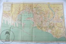 Old 1930´s Italty Genova Topographical Map: Nuova Pianta Topografica Di Genova E Sampierdarena - Mapas Topográficas