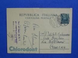 Postal Stationery, Medical, Dental, Tandpasta, Toothpaste, Chlorodont (miscut) - Medizin