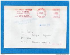 """MARCOPHILIE-  Lettre """"FD""""oblit EMA Rouge-1991-erreur De Destination QUELLE-ouvert Par Erreur-réexpédiée - Marcophilie (Lettres)"""