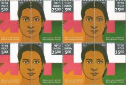 Block Of 4's,2016,UN Women Solidarity Movement For Gender Equality, India-UN Women HeForShe,Onl Women Day - India