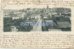 32376 ITALY PERUGIA UMBRIA VIEW PANORAMIC CIRCULATED TO URUGUAY POSTAL POSTCARD - Italia