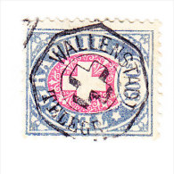 Heimat SG WALLENSTADT TELEGR. Vollstempel Auf Telegraphen Marken 50C. 1881 - Télégraphe