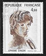 N° 2210  FRANCE  - OBLITERE - TABLEAU EPHEBE D'AGDE    -  1982 - Used Stamps