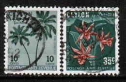 CEYLON  Scott # 313-4 VF USED - Sri Lanka (Ceylon) (1948-...)