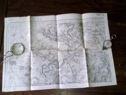 MEAUX. ..  Carte Topographique De 1889 N° 49/1 - Topographische Kaarten