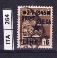 ITALIA, FIUME, 1945, OCCUPAZIONE YUGOSLAVA, L.6 SU 10 Cent, USATO