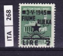 ITALIA, FIUME, 1945, OCCUPAZIONE YUGOSLAVA,  2L. Su 25 Cent, Nuovo