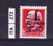 ITALIA, ISTRIA, 1945, OCCUPAZIONE YUGOSLAVA, L. 1,50 Su 75 Cent, Nuovo