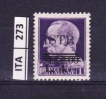 ITALIA, ISTRIA, 1945, OCCUPAZIONE YUGOSLAVA,  L. 4 Su 2 Su 1, Nuovo