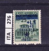 ITALIA, TRIESTE , 1945, OCCUPAZIONE YUGOSLAVA, L. 1,su 25 Cent. Nuovo