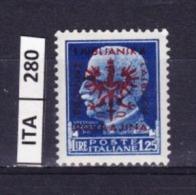 ITALIA, OCCUPAZIONE TEDESCA DI LUBIANA 1944, Imperiale L 1,25 Soprast. Nuovo - Occup. Tedesca: Lubiana