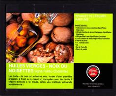 CP Recette De Cuisine, Bouquet De Légumes, Huiles Vierges De Noix Ou Noisettes , Poitou Charentes - Küchenrezepte