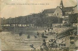 10 BAR-SUR-AUBE LAVAGE DES MOUTONS A L'ABREUVOIR DE MATHAUX - LESSIVEUSES LAVANDIERES - Bar-sur-Aube
