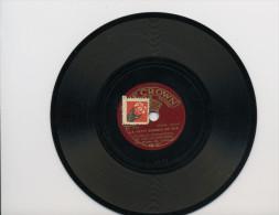 """78T??  DISQUE THE CROWN (15 Cm) """"LA BONNE SOUPE AUX CHOUX""""  &  """"LE PETIT CHEMIN DE FER"""" CHANSON ENFANTINE PAR M. DELAQUE - 78 T - Disques Pour Gramophone"""