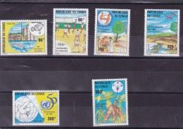 CONGO : : Y&T : 1027** à 1032** - 1990-96: Neufs