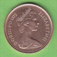 GRANDE BRETAGNE ELIZABETH II    2 NEW  PENCE   ANNEE 1975    LOT100380 - 1971-… : Monnaies Décimales