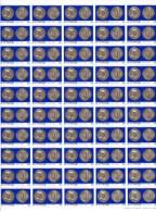 Monnaies Anciennes, 463 / 466** Bloc De 50 (pliée En 2), Cote 87,50 €, - Unused Stamps