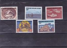 CONGO : Année Mondiale De La Peche  : Y&T :738 ** à 742 ** - Zaïre