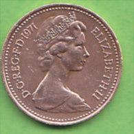 GRANDE BRETAGNE ELIZABETH II   1 NEW  PENNY   ANNEE 1971    LOT100381 - 1971-… : Monnaies Décimales