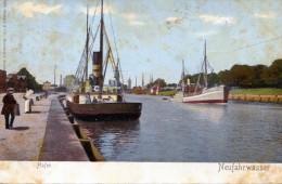 Hafen. Neufahrwasser (Danzig) - Polen