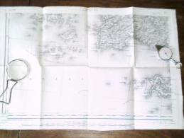BREST  .S .O.  Carte Topographique De 1895 N° 57/3 - Topographical Maps