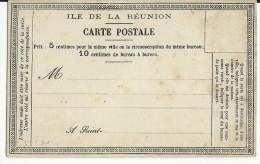 REUNION - RARE CARTE PRECURSEUR ENTIER REF SINAIS : N°32 - NEUVE - Réunion (1852-1975)