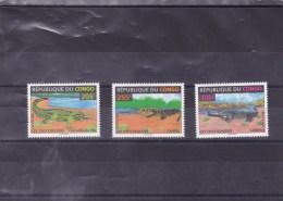 CONGO :  Les Crocodiliens : Y&T : 1018** à 1020** - 1990-96: Neufs