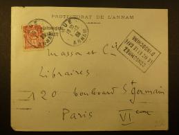 LETTRE DE HUE ANNAM AVEC DAGUIN   POUR LA FRANCE   INDOCHINA COVER - Brieven En Documenten