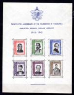 25 Ans De La Yougoslavie, Personnalités, Mi Bk 2**, Cote 75 €, - Blocs-feuillets