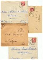 MILITAIRE 752 1 AM   PA  SECTEUR POSTAL 81 CORRESPONDANCE POUR CARTIGNIES (NORD) 1934 + 1940 - 1939-45