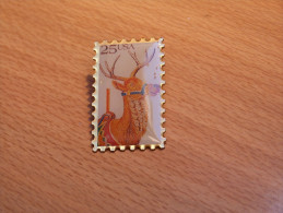 PIN´S   TIMBRE ANIMAUX CERF USA. - Animals