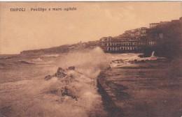 Italy Napoli Posillipo e mare agitato