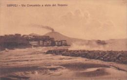 Italy Napoli Via Caracciolo e vista del Vesuvio