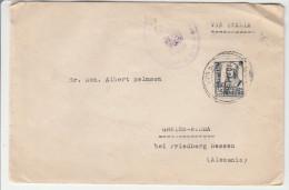 Burgos 1938 - Lettre Pour Allemagne Friedberg Via Italia - Cover Brief Lettra + Visado Censura - Marcas De Censura Nacional