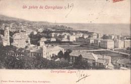 UN SALUTO DA CORNIGLIANO GENOVA-CORNIGLIANO LIGURE-VG IL1903 -ORIGINALE D´EPOCA-2 SCAN - Genova
