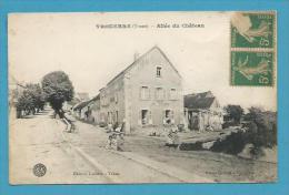 CPA Allée Du Château YROUERRE 89 - Other Municipalities