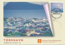 Norway Pc 1996 Exhibition Card 1996 Nordatlantex '96, Torshavn - Card A 2,50 Euro - Noorwegen