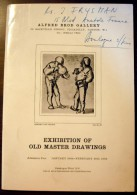 Exhibition Of Old Master Drawings : Alfred Brod Gallery Janvier-Février 1965 - Livres, BD, Revues