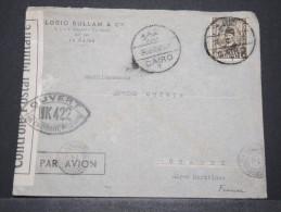 EGYPTE - Env Avec Censure Du Caire Pour Grasse Alpes Maritimes - Avril 1940 - A Voir - P17168 - Egypt