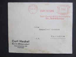Brief Frankotype Postfreistempel Berlin Wilmersdorf Curt Heskel 1931 // S5129 - Briefe U. Dokumente