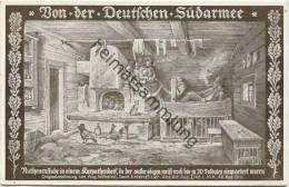 Von Der Deutschen Südarmee - Ruthenenstube - Originalzeichnung Von Aug. Wilhelmi - Feldpost Gel. 1916 - Ohne Zuordnung
