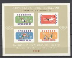 ECUADOR 1964 # Yvert SHEET BF 11 ** SPORT OLYMPIC BASKET GYMN (7138 - Ecuador