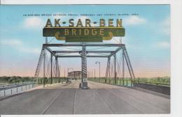 AK-SAR-BEN BRIDGE BETWEEN OMAHA / NEBRASKA AND COUNCIL BLUFFS - IOWA - Etats-Unis