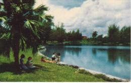 POSTAL DE LA HABANA DEL COUNTRY CLUB LAKE DEL AÑO 1956  (CUBA) ROBERTS TOBACCO - Cuba