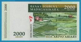 MADAGASCAR 2000 Ariary / 10000 Francs ND (2003)  Serie A..E   P# 83 - Madagascar